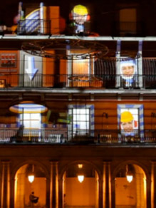 Audiovisual mapping content production for christmas campaign.  Plaza Mayor | Madrid 2011