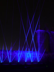 Laser and sound installation