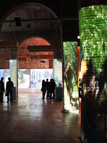 Mapping decoration on Alba Sotorra's video art exhibition.